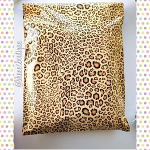 (25) Leopard Print 10x13 Polymailers Mail Supplies